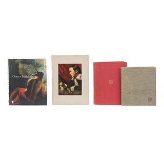 LIBROS DE ARTE. a) Goya e Italia. b) The World of Copley 1738 - 1815. c) Pedro Friedeberg. d) Tina Modotti. Una Vida Frágil. Piezas: 4.