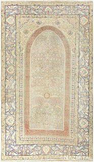 SILK ANTIQUE KEYSARI TURKISH RUG, 6 ft 6 in x 3 ft 9 in