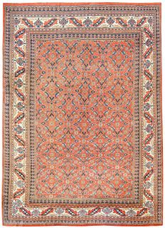 ANTIQUE PERSIAN KHORASSAN RUG 13 ft 9 in x 9 ft 10 in