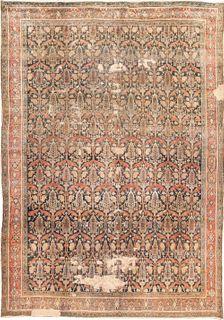 ANTIQUE PERSIAN BIBIKABAD RUG, 11 ft 8 in x 8 ft