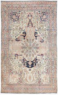 ANTIQUE PERSIAN KERMAN RUG, 17 ft 6 in x 10 ft 9 in