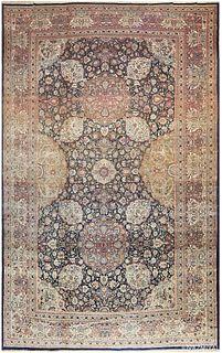 ANTIQUE TEHRAN PERSIAN CARPET, 22 ft 3 in x 14 ft 3 in