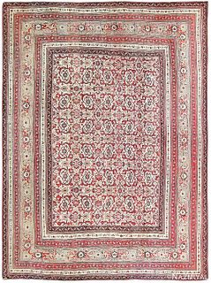 ANTIQUE INDIAN AGRA RUG, 13 ft 10 in x 10 ft