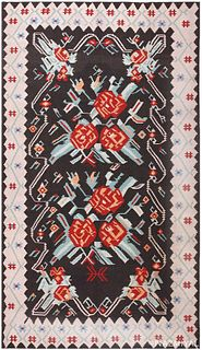 VINTAGE TURKISH KILIM RUG, 12 ft 10 in x 7 ft 4 in
