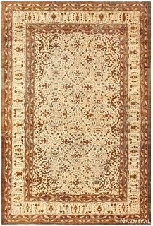 ANTIQUE INDIAN AMRITSAR CARPET, 12 ft 9 in x 8 ft 8 in