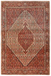 ANTIQUE PERSIAN SAROUK FARAHAN RUG, 6 ft 4in x 4 ft 4in
