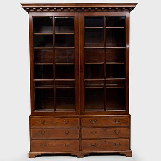 Early George III Mahogany Library Cabinet