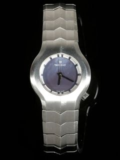 LADIES CONTEMPORARY STAINLESS STEEL WATCH