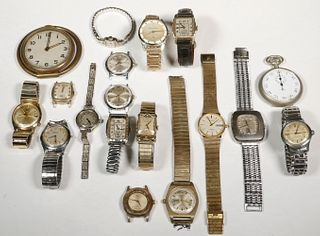 (18 PC) WATCH & CLOCK LOT
