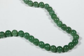 GREEN PEKING GLASS BEAD NECKLACE