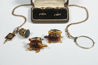 (3 PC) GENT'S JEWELRY LOT