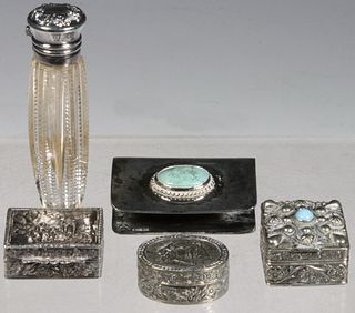 (5) SMALL SILVER & SILVER-PLATED OBJECTS