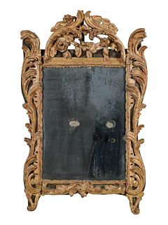 A Regence Carved Giltwood Mirror