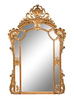 A Regence Style Giltwood and Composition Mirror