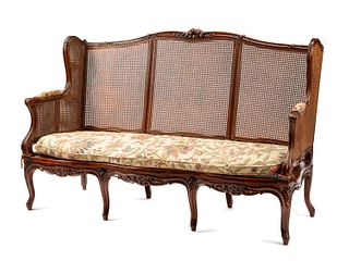 A French Provincial Caned Settee