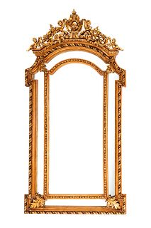 A Louis XV Style Gilded Mirror