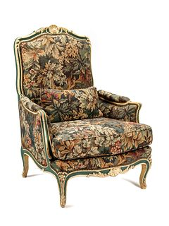 A Louis XV Painted Bergere