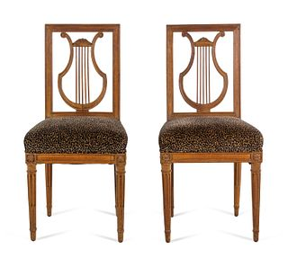 A Pair of Louis XVI Beechwood Side Chairs
