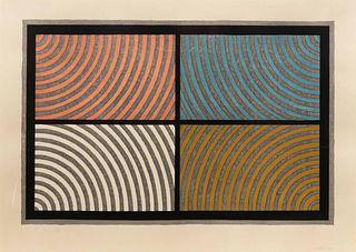 Sol LeWitt (American, 1928-2007) Arcs from Four Corners, 1986