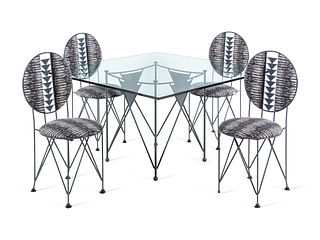 Frank Lloyd Wright (American, 1867-1959)  Midway Gardens Dining Set for FourCassina, Italy