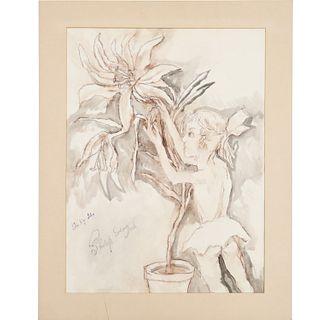 Philip Evergood, large drawing