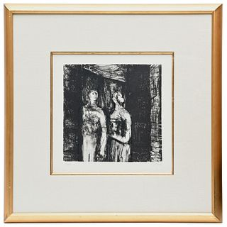 Henry Moore, signed lithograph