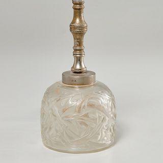 """R. Lalique """"Ronces"""" crystal budoir lamp"""