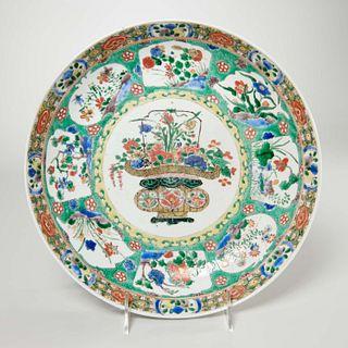 Good Chinese famille verte porcelain dish