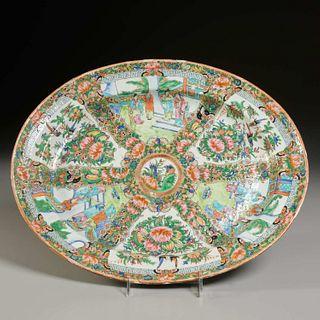 Chinese Export rose medallion platter