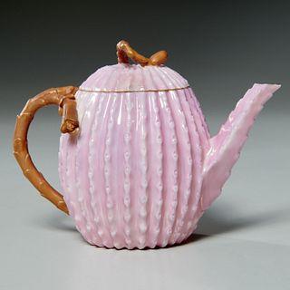 Ott & Brewer American Belleek porcelain teapot