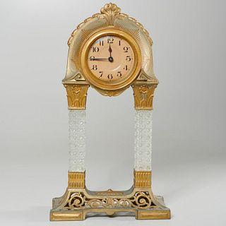 German Art Nouveau style portico clock
