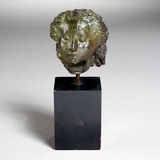 Marino Marini (attrib.), bronze bust, 1949