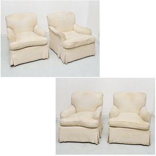 (4) quality custom designer club chairs