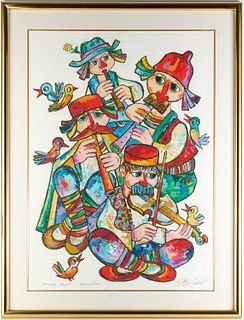 Jovan Obican, artist's proof lithograph