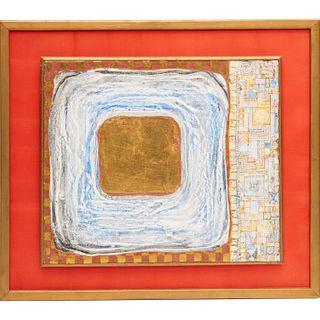 Gian Berto Vanni, mixed media painting