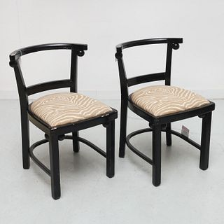 Josef Hoffmann (style), pair side chairs