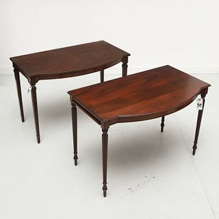 (2) Colonial Revival serving / console tables