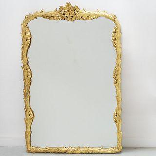 Nice Belle Epoque carved giltwood pier mirror