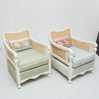 Pair California Arts & Crafts style lounge chairs