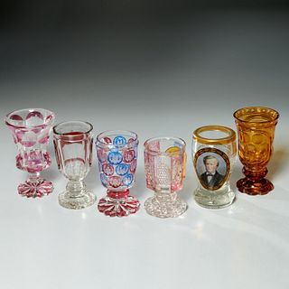 Nice group Bohemian & German souvenir glass