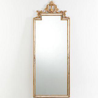 Antique George III style giltwood pier mirror