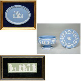 (4) Wedgwood Jasperware plaques & tablewares