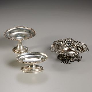 (3) small English silver footed dishes
