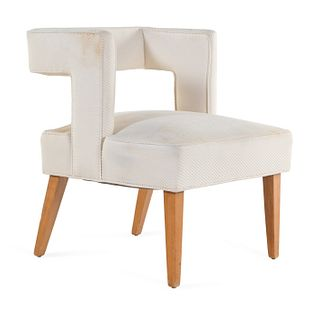 Manner of Milo Baughman American, Mid 20th Century Open-Back Side Chair