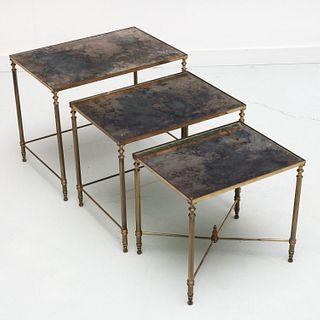 Set (3) Maison Jansen style nesting tables