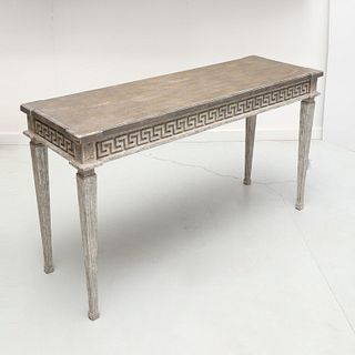 Niermann Weeks style faux painted console