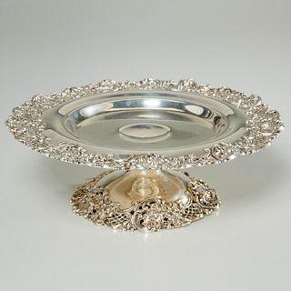 Redlich & Co. sterling silver reticulated tazza