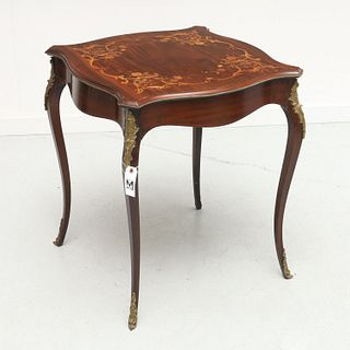 Louis XV style marquetry inlaid table