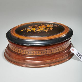 Large Victorian marquetry dresser box