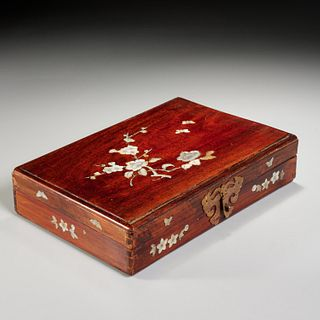 Chinese mother-of-pearl inlaid box